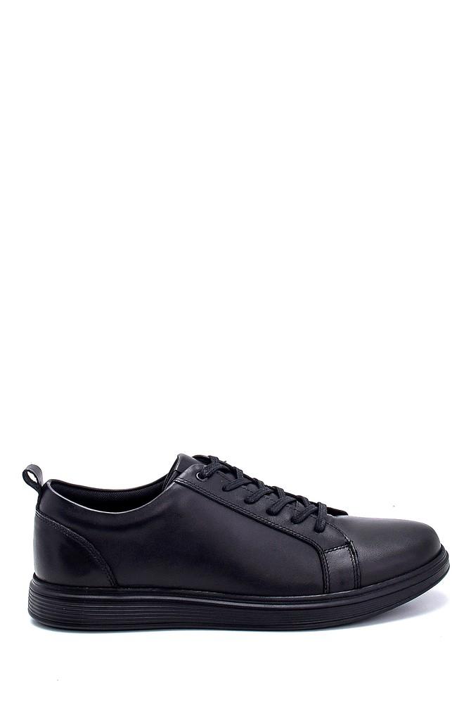 Siyah Erkek Deri Sneaker 5638252479