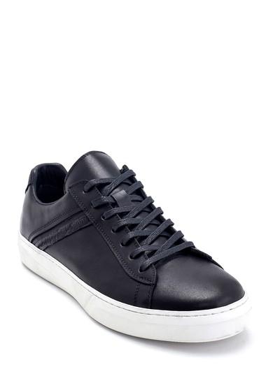 Siyah Erkek Deri Sneaker 5638253115
