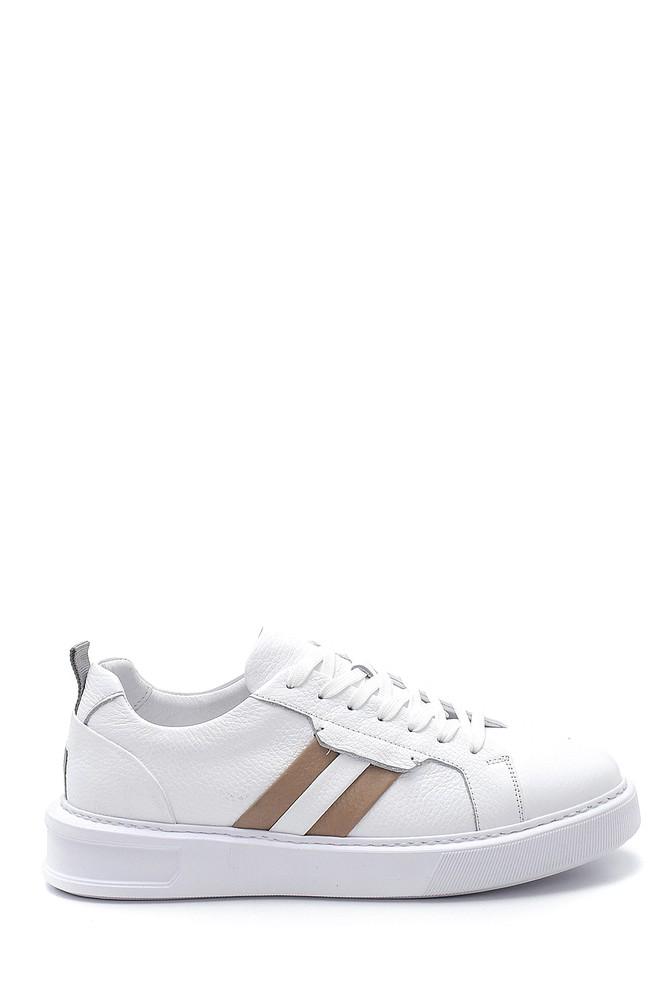 Beyaz Erkek Deri Sneaker 5638254043