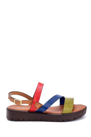 Multi Renk Kadın Deri Sandalet 5638255335