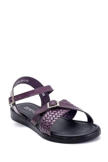 Mor Kadın Deri Sandalet 5638255375