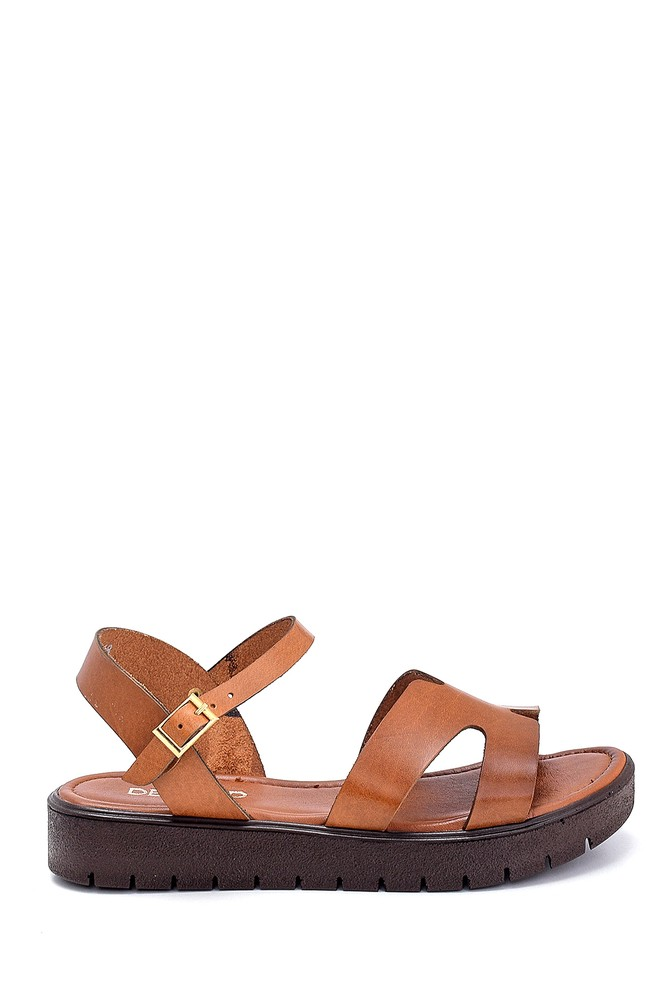 Taba Kadın Deri Sandalet 5638255499