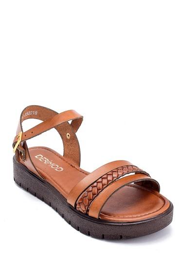 Taba Kadın Deri Sandalet 5638255642