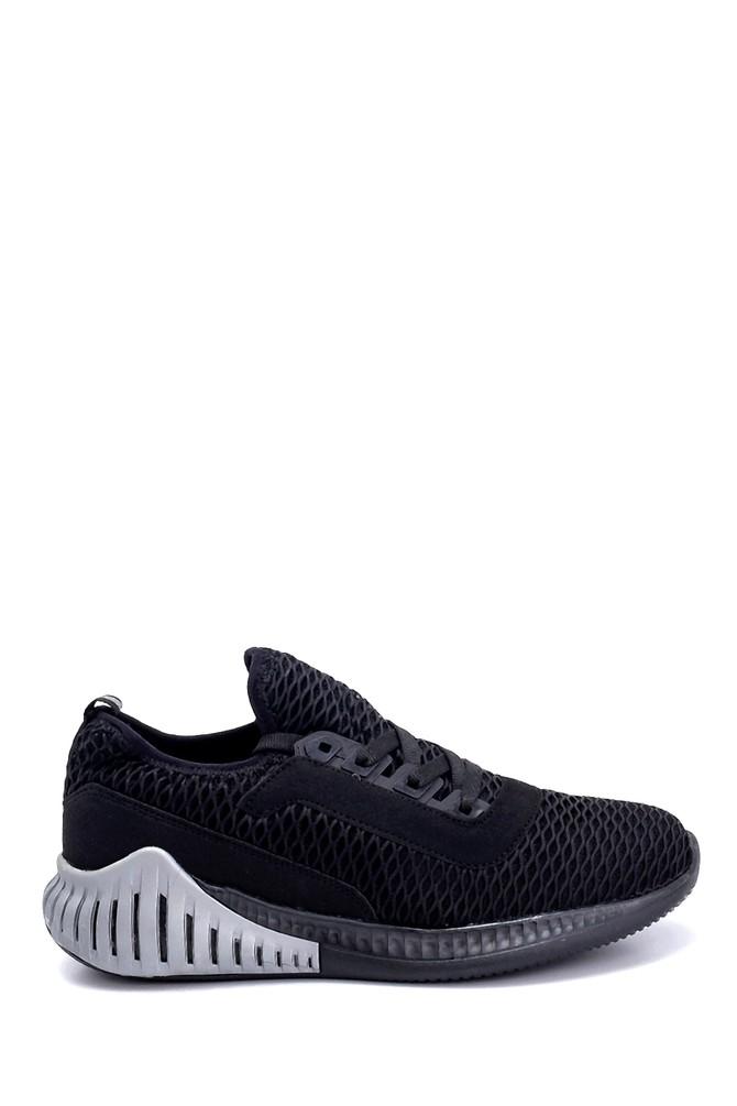 Siyah Erkek Deri Sneaker 5638259694
