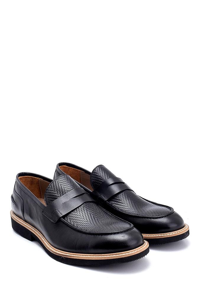 5638275327 Erkek Deri Baskı Detaylı Ayakkabı