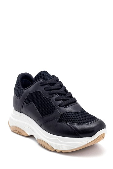 Siyah Kadın Yüksek Tabanlı Sneaker 5638292419