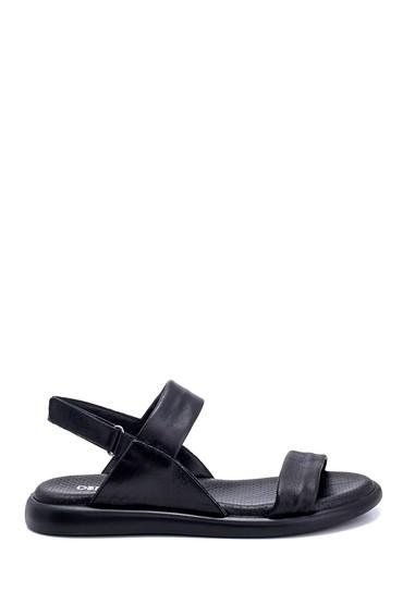 Siyah Kadın Deri Sandalet 5638268233