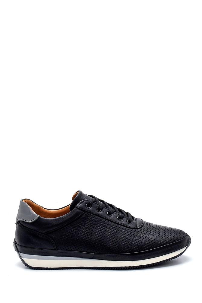 Siyah Erkek Deri Sneaker 5638273410