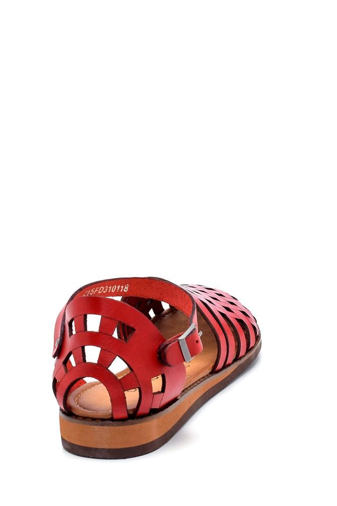 5638273375 Kadın Deri Sandalet