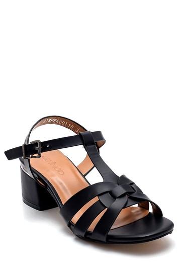 Siyah Kadın Topuklu Sandalet 5638271557