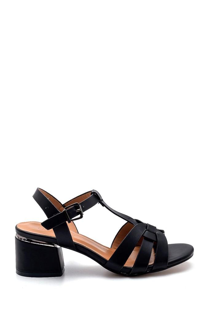 Siyah Kadın Topuklu Sandalet 5638271553