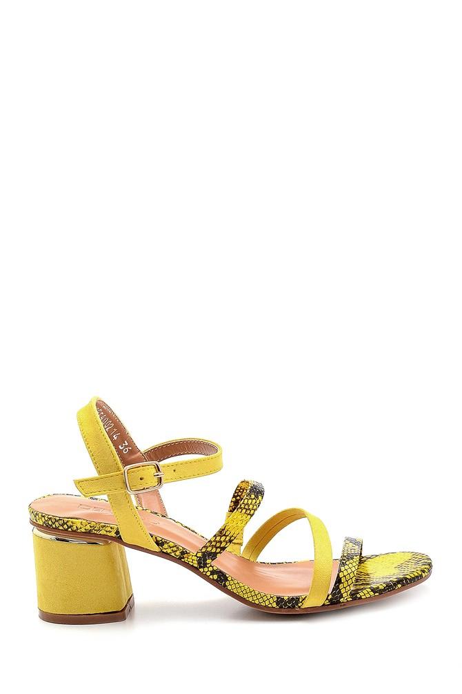 Sarı Kadın Topuklu Sandalet 5638271608