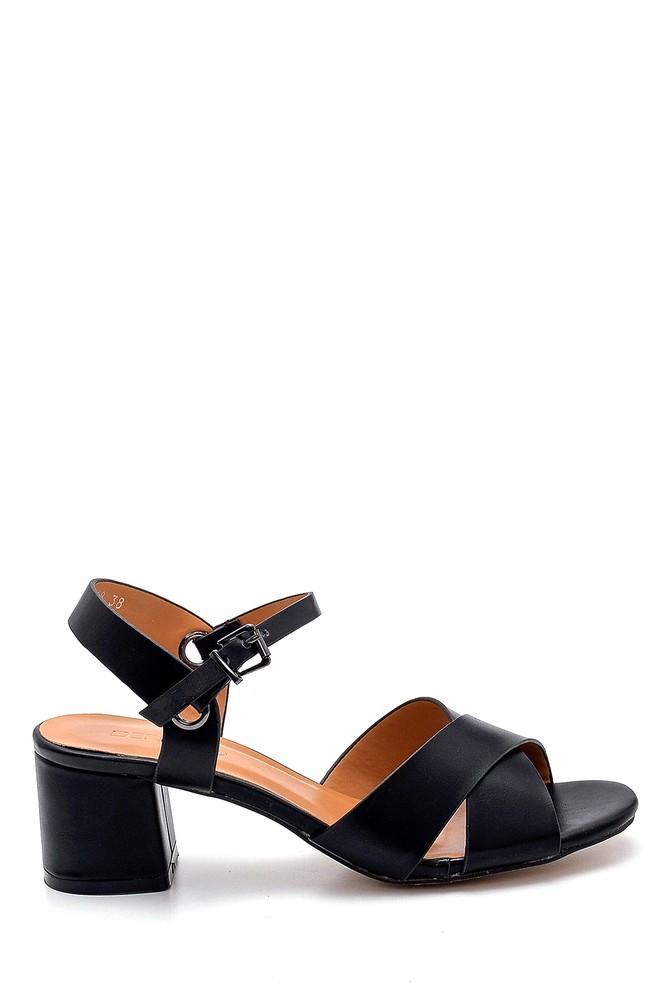 Siyah Kadın Topuklu Sandalet 5638271669