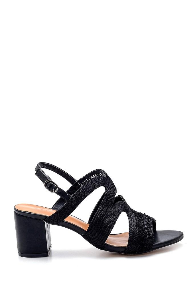 Siyah Kadın Topuklu Sandalet 5638271740