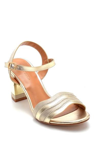Altın Kadın Topuklu Sandalet 5638271788