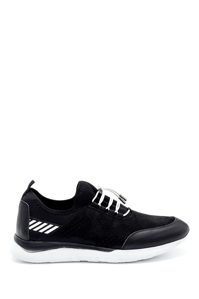 Siyah Erkek Deri Sneaker 5638254621