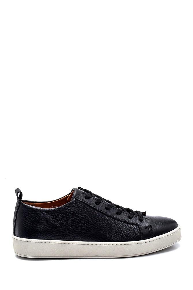 Siyah Erkek Deri Sneaker 5638257893