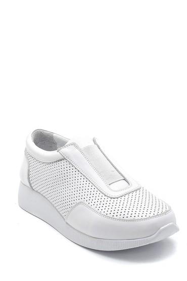 Beyaz Kadın Deri Sneaker 5638265712