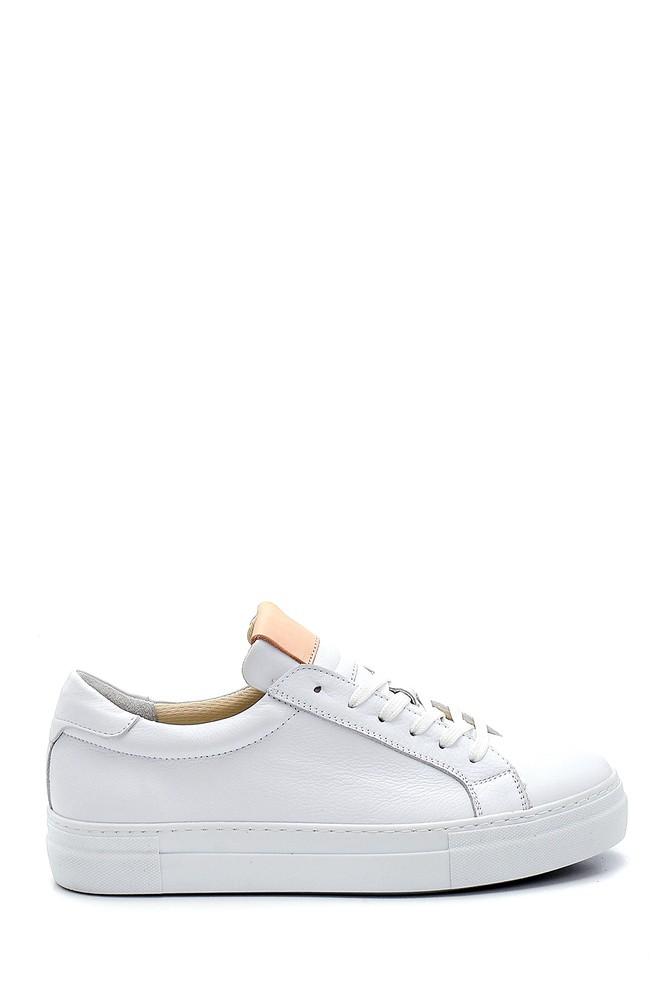 Beyaz Kadın Deri Sneaker 5638272912
