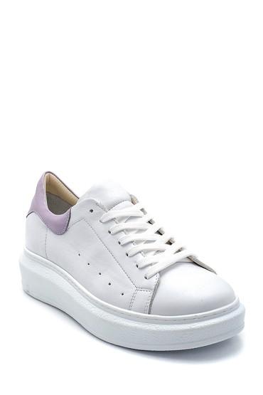 Beyaz Kadın Deri Sneaker 5638272968