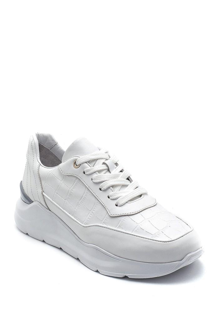 5638275819 Erkek Kroko Desenli Sneaker