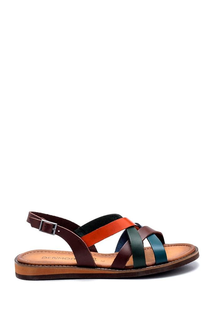 Multi Renk Kadın Deri Sandalet 5638273299