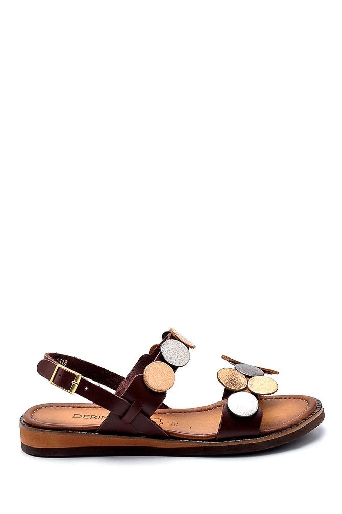 Kahverengi Kadın Deri Sandalet 5638274846