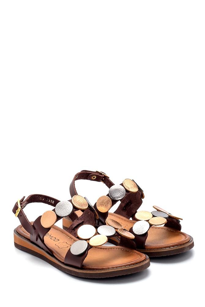 5638274846 Kadın Deri Sandalet