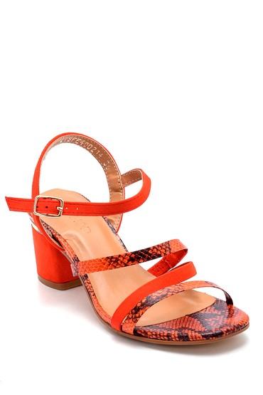 Kırmızı Kadın Topuklu Sandalet 5638271590