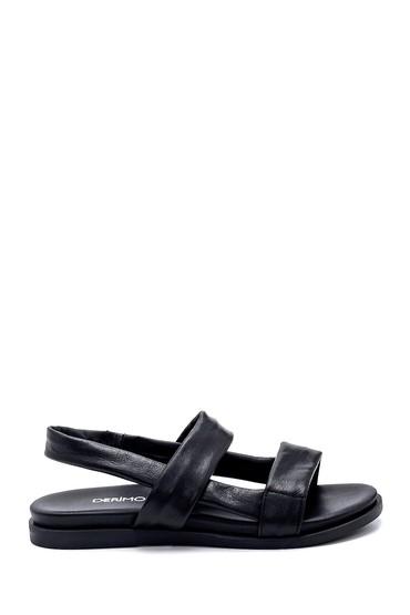 Siyah Kadın Deri Sandalet 5638260767
