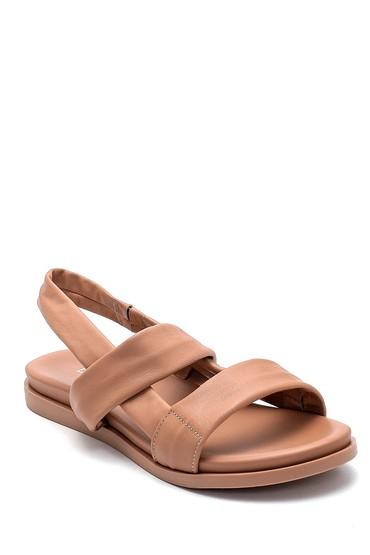 Bej Kadın Deri Sandalet 5638260769