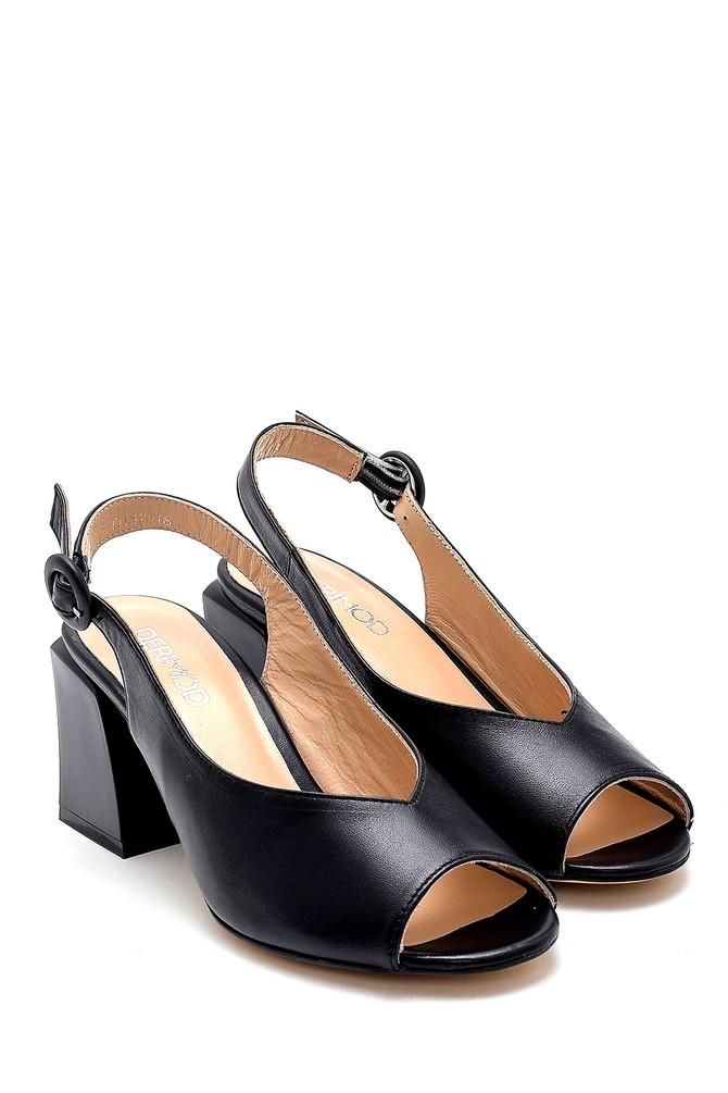 5638260882 Kadın Deri Topuklu Sandalet
