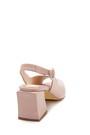 5638260884 Kadın Deri Topuklu Sandalet