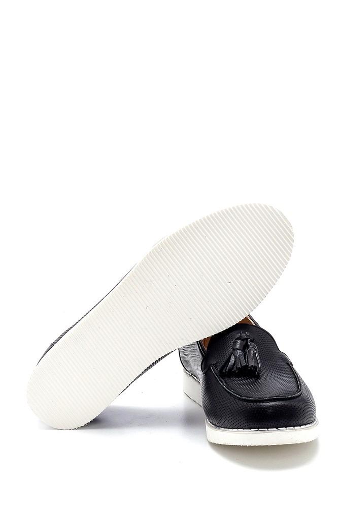 5638276072 Kadın Deri Püskül Detaylı Loafer