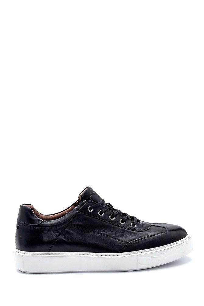 Siyah Erkek Deri Sneaker 5638286104