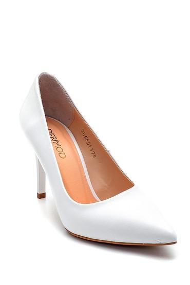 Beyaz Kadın Deri Stiletto 5638286184