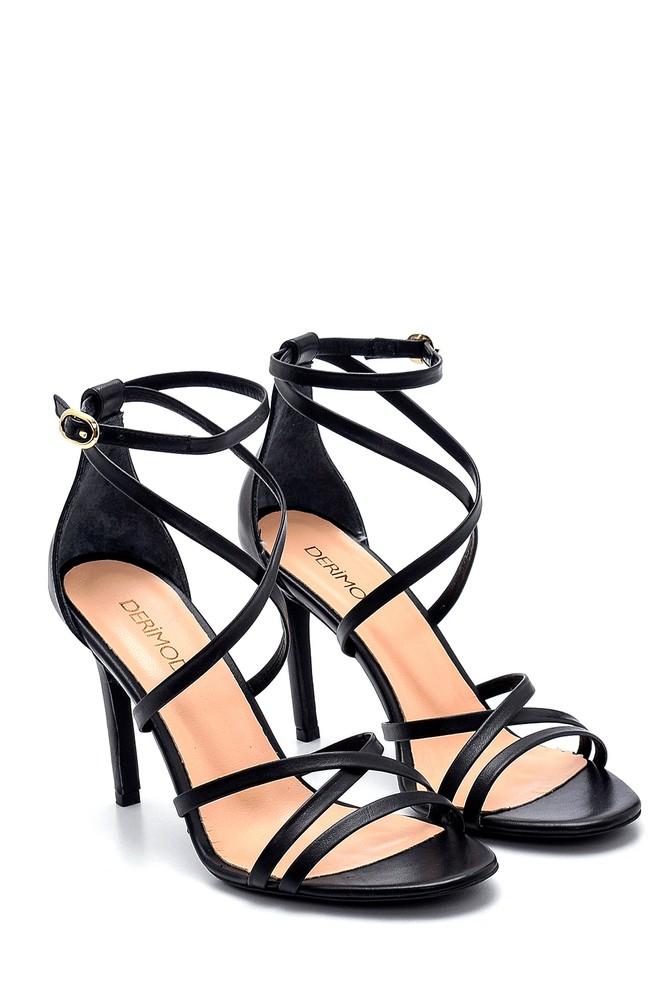 5638282460 Kadın Deri Topuklu Ayakkabı