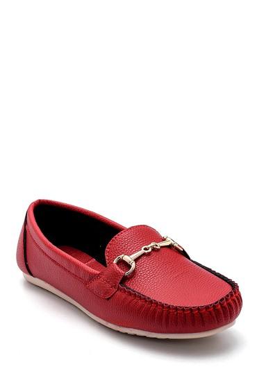 Kırmızı Kadın Toka Detaylı Loafer 5638280418