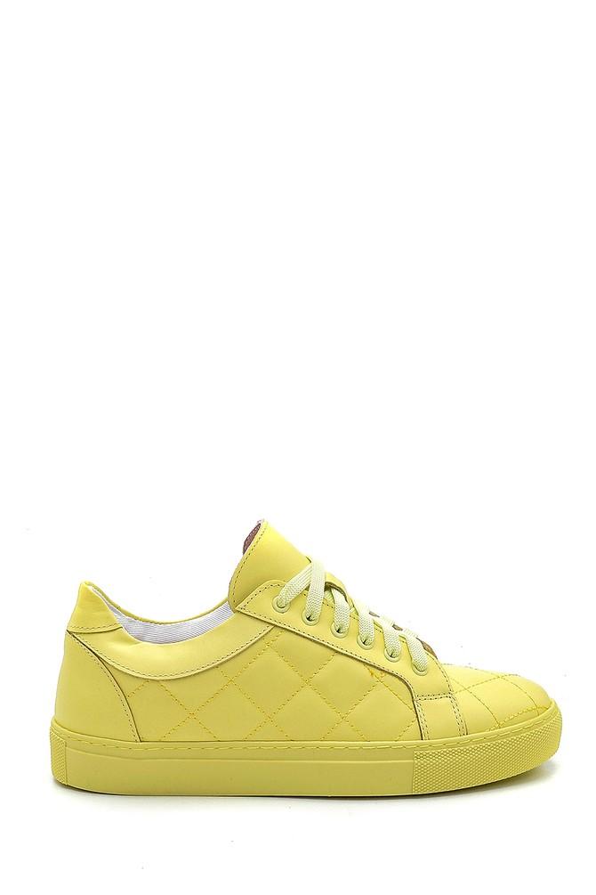Sarı Kadın Deri Sneaker 5638288427