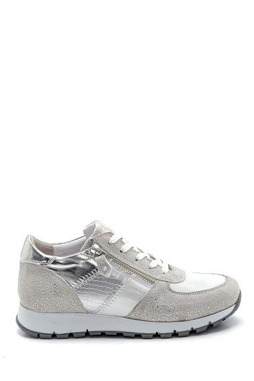 Beyaz Kadın Fermuar Detaylı Sneaker 5638290624
