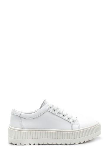 Beyaz Kadın Deri Sneaker 5638292364