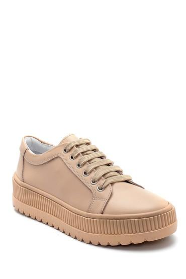 Bej Kadın Deri Sneaker 5638292368