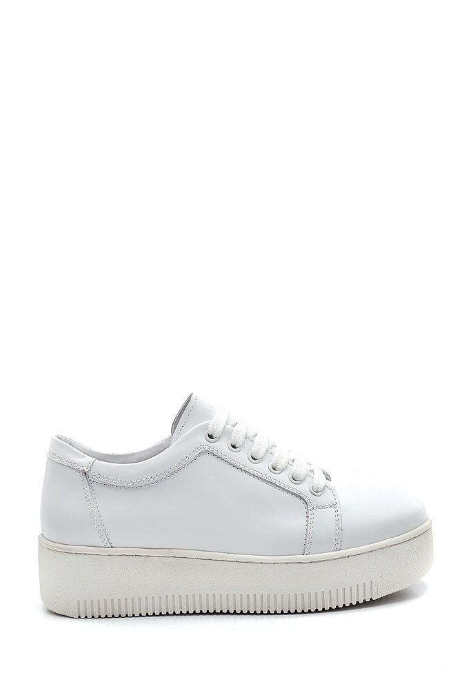 Beyaz Kadın Deri Sneaker 5638292393
