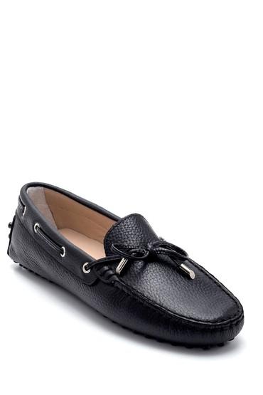 Siyah Kadın Deri Fiyonk Detaylı Loafer 5638270510