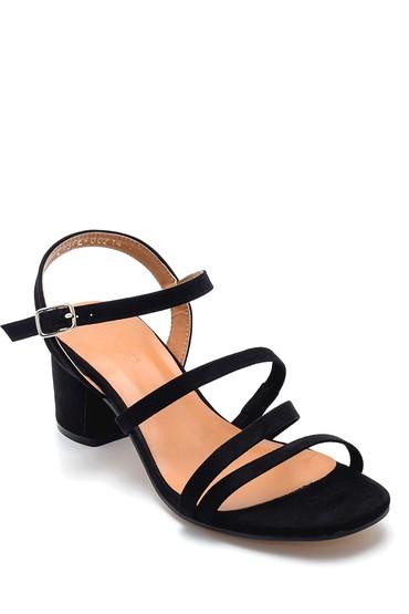 Siyah Kadın Topuklu Sandalet 5638271586