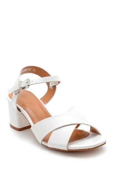 Beyaz Kadın Topuklu Sandalet 5638271655