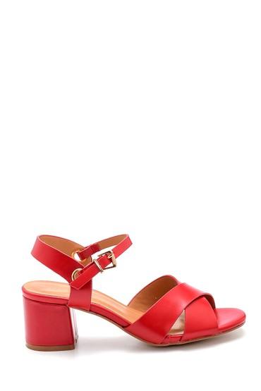Kırmızı Kadın Topuklu Sandalet 5638271651