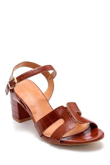 Taba Kadın Kroko Desenli Sandalet 5638271707