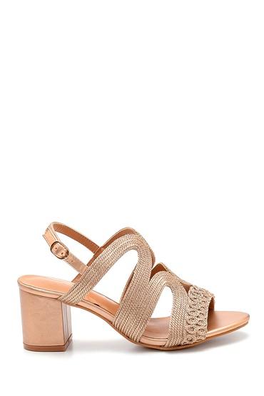 Pembe Kadın Topuklu Sandalet 5638271735