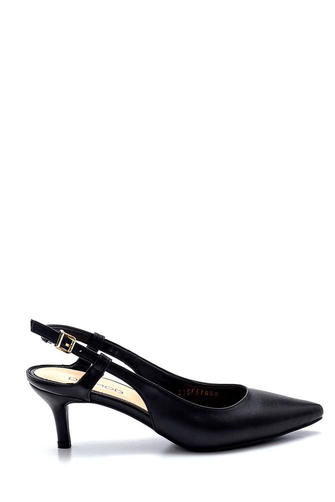 Siyah Kadın Topuklu Ayakkabı 5638282500